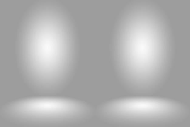 Gradiente gris blanco oscuro vacío abstracto con iluminación de viñeta sólida negra fondo de pared y piso de estudio y uso como telón de fondo.