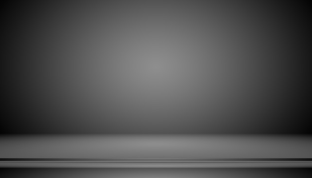 Gradiente negro de lujo abstracto con fondo de viñeta de borde telón de fondo de estudio: utilícelo como fondo de fondo, fondo de estudio, marco degradado.