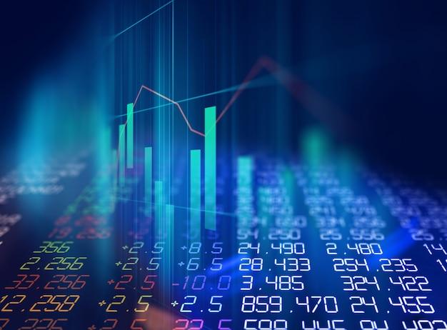 Gráfica técnica financiera sobre fondo abstracto de tecnología.
