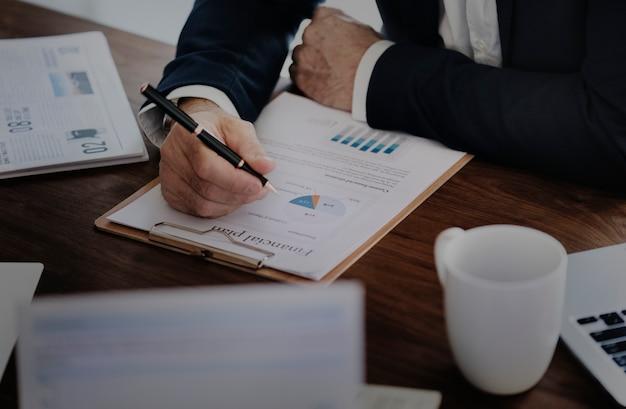 Gráfico de análisis de datos de negocios