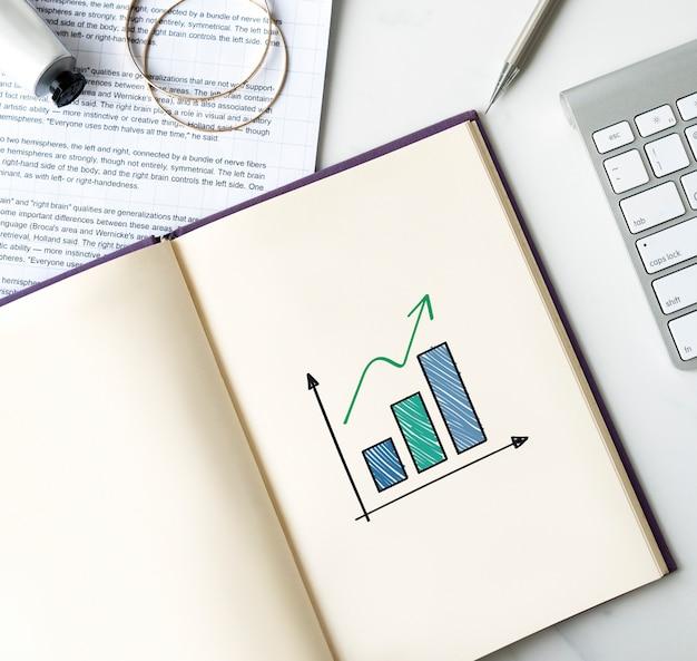 Gráfico de barras en crecimiento en un cuaderno