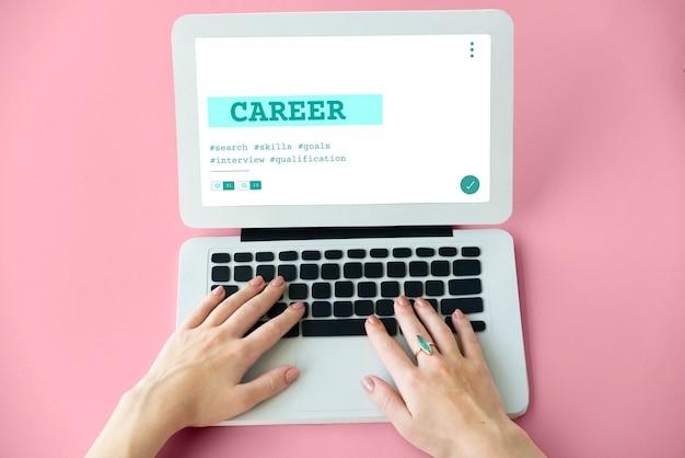 Gráfico de calificación de reclutamiento de contratación de carrera de trabajo
