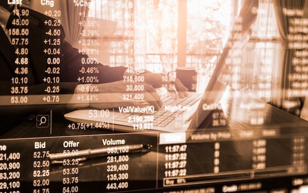 Gráfico de comercio de divisas para el concepto de inversión financiera