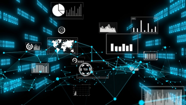 Gráfico de datos comerciales y cifras financieras