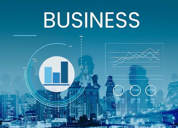 Gráfico de gráfico de resumen de resultados de análisis de datos gráfico