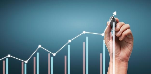 Gráfico de dibujo a mano, stock gráfico de crecimiento