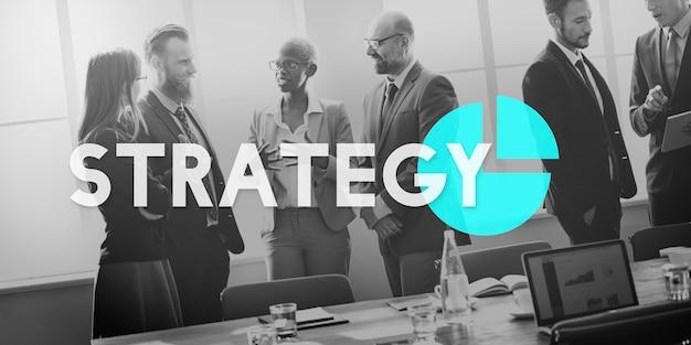 Gráfico de estrategia de planificación de marketing empresarial
