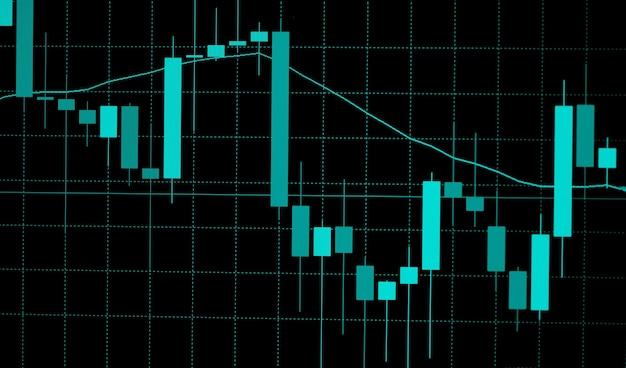 Gráfico gráfico digital del mercado de valores análisis comercial de la bolsa de valores financiera de inversión
