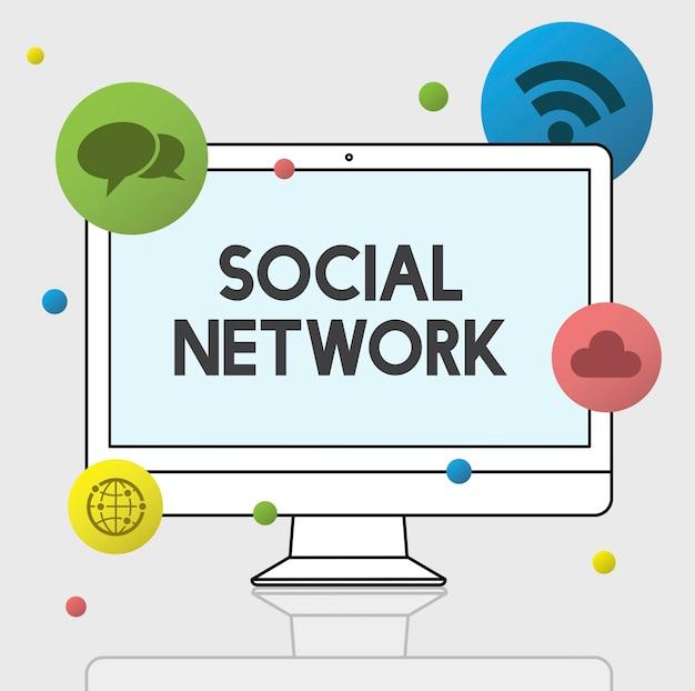 Gráfico de internet y redes sociales