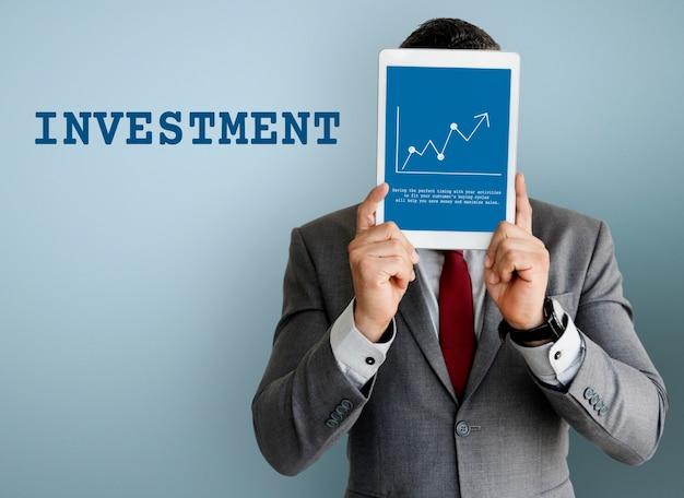 Gráfico de inversión de economía de bolsa de valores