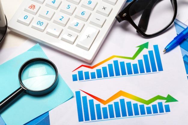 Gráfico de negocios que muestra el éxito financiero