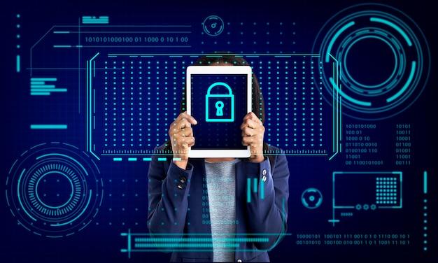Gráfico de protección de privacidad de seguridad de contraseña de bloqueo de teclas