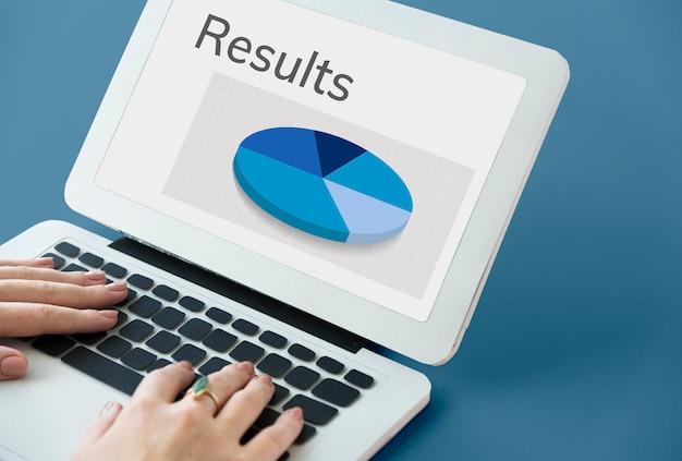Gráfico de resumen de resultados de análisis de datos gráfico de word