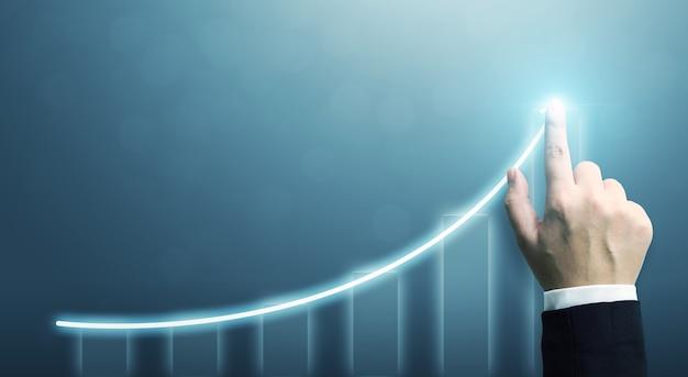 Gráfico señalador de empresario