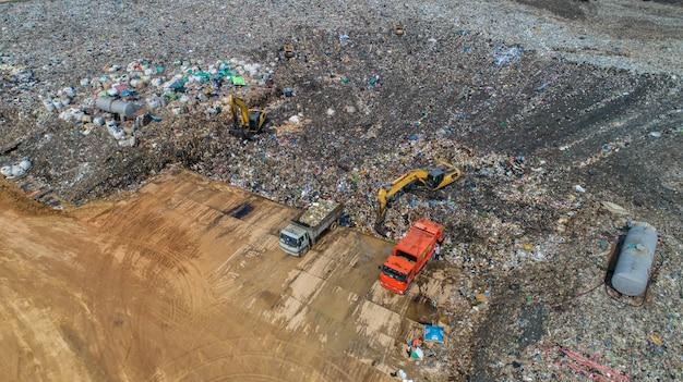 Una gran cantidad de residuos se elimina en los pozos de eliminación de residuos.