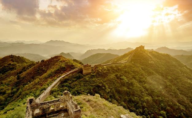 La gran muralla de china.