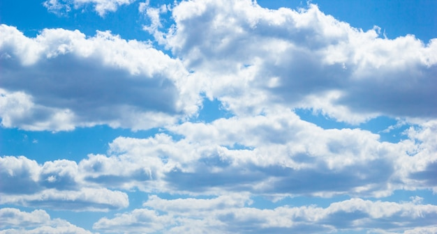 Gran paisaje. un cielo azul claro con nubes blancas.