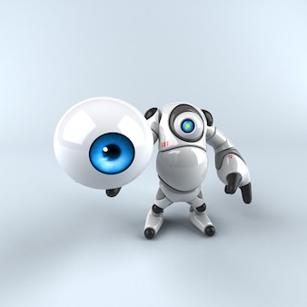 Gran robot - personaje 3d