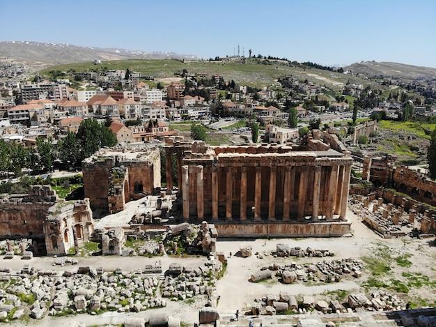 Gran templo de baalbek del líbano en beirut