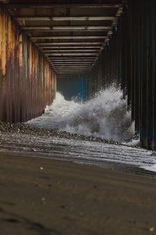 Grandes olas, tormenta de mar, tsunami