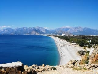 Una de las grandes playas de antalya