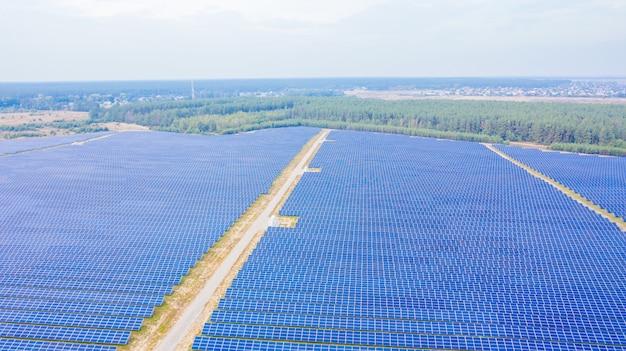La granja solar una foto aérea