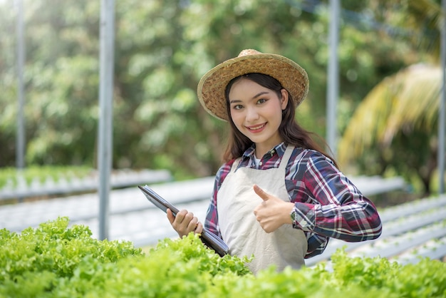 Granja de vegetales hidropónicos