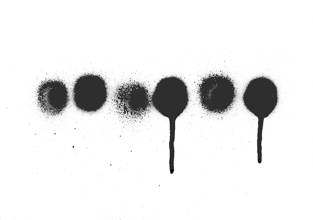 Grano blob salpicó seco abstracto