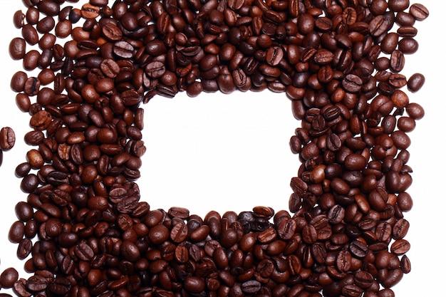 Granos de café con copyspace