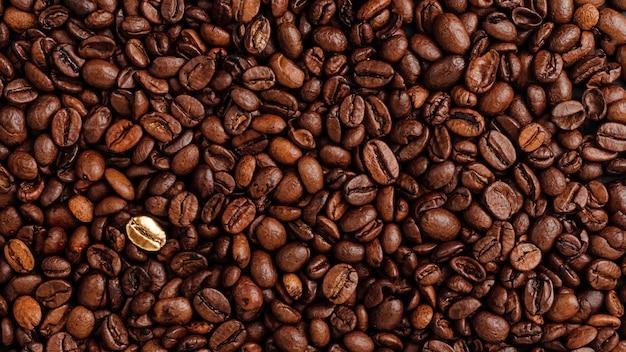 Granos de café texure. destacando el concepto de multitud.