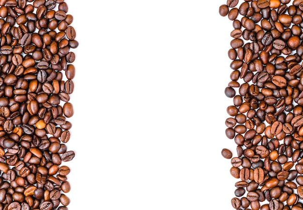 Granos de café vista superior copia espacio