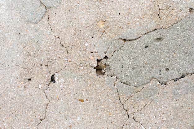 Grietas en la superficie del cemento