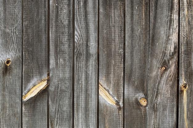 Gris valla de madera vieja.