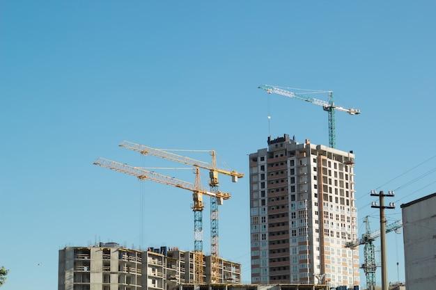 Grúas de construcción casas de gran altura