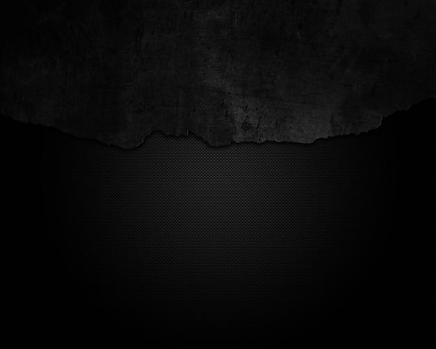Grunge agrietado sobre una superficie de fibra de carbono