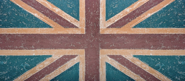 Grunge bandera británica