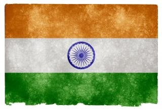 Grunge bandera india