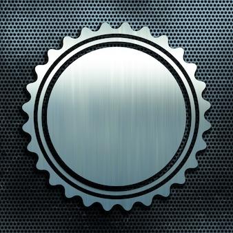Grunge perforado fondo de textura de metal con placa de aluminio cepillado
