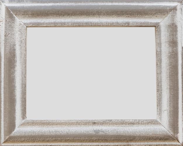Grunge viejo marco vacío blanco