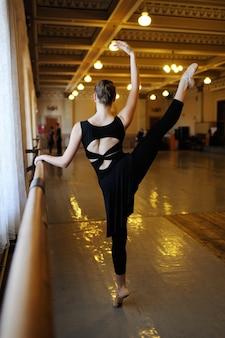 Grupo de ballet en clase de ballet