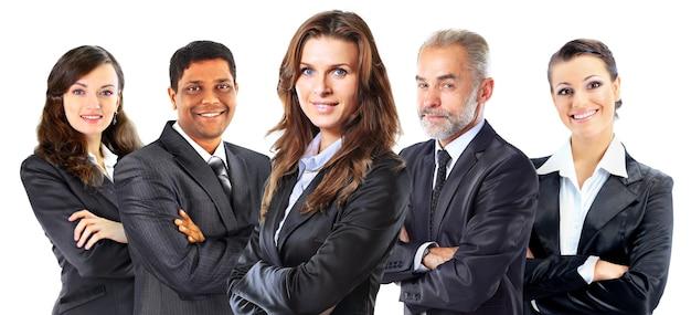 Grupo de empresarios confiados