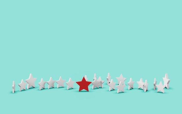 Grupo de estrellas aisladas en azul