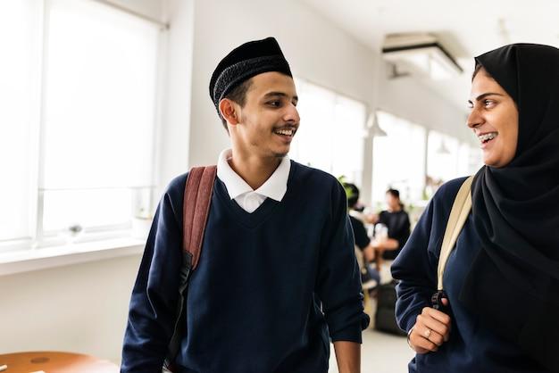 Un grupo de estudiantes musulmanes.