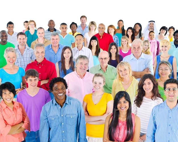 Grupo de estudio de personas diversas.