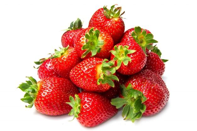 Grupo de fresas frescas