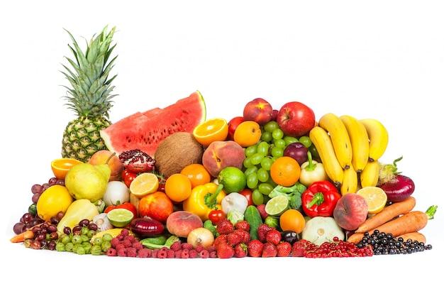 Grupo de frutas y verduras