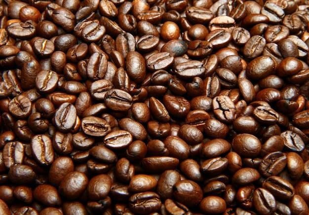 Grupo de granos de cafe