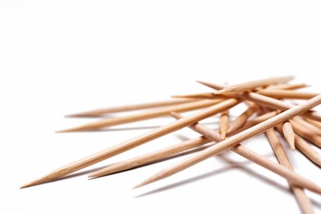 Grupo de palillos de madera