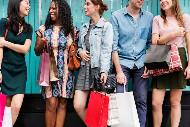Grupo de personas concepto de compras