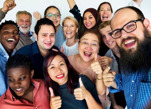 Grupo de personas concepto de unidad